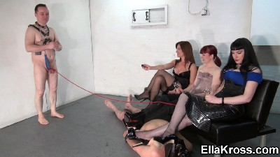 Three Mistresses, Two Slaves, and A Shock Box!