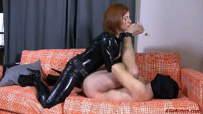 Butt-Fucking My Slave with a Strap-On!