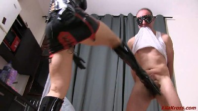 Kicking My Slave's Balls In! (part 2)