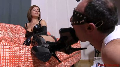 Making My Slave Worship My Leather Boots! (part 3)