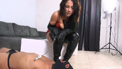Nipple Torture and Spitting in My Slave's Mouth!