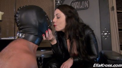 Worshiping My Leather Boots and Mouth Spitting!