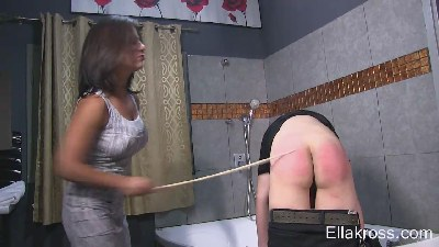 Violently Caning My Step Son`s Naked Ass!