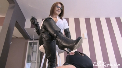 Clean My Leather Boots with Your Tongue!
