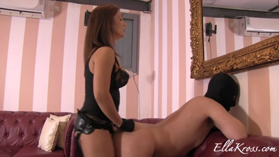 Training Slave to Take a Big Cock!