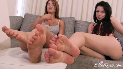 Worship Our Bare Feet with Cum Countdown Featuring Anne!