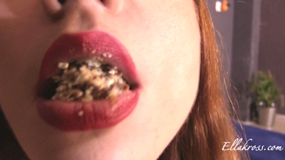 Spitting Chewed Cookies into Fat Slave's Mouth!