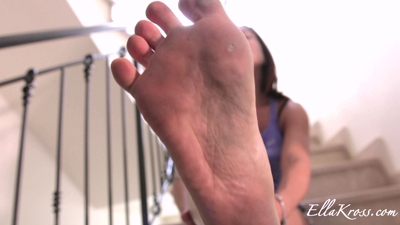 Clean My Dirty Feet with Your Mouth!