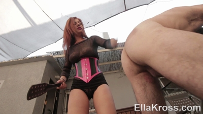Paddling My Disobedient Slave's Naked Ass!