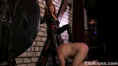 Smothering Slave with Leather and Leather Worship!